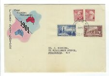 AUSTRALIA 1951 JUBILEE OF COMMONWEALTH ON HIGGINS FDC