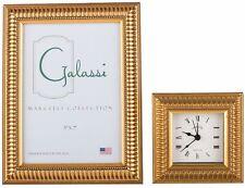 F. G. Galassi Handmade Fine Italian Wood Gold LinesClock cl100934
