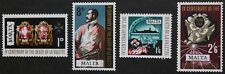 4th death centenary of Grand Master La Valette stamps, Malta, 1968, 4 stamps MNH