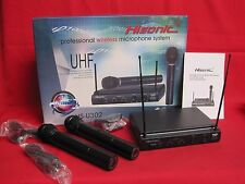 NEW HISONIC HSU302  Professional UHF Wireless Microphone with 2 Microphones