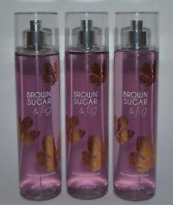 Lot Of 3 Bath & Body Works Brown Sugar Fig Fine Fragrance Mist Body Spray 8 Oz