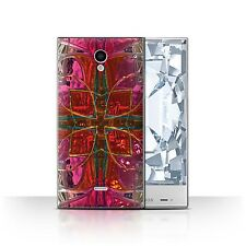 STUFF4 Back Case/Cover/Skin for Sharp Aquos Crystal/306SH/Pink Fashion