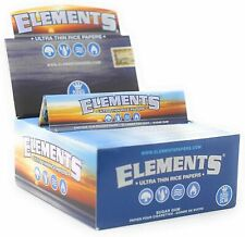 Elements Blue King Size Slim THIN RICE Rolling Papers Smoking Tobacco Hand Roll