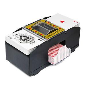 Electric Automatic Poker Shuffler Board Game Playing Card Shuffle Machine 2 Deck