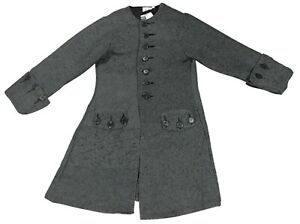 *NEW* Jack Sparrow Pirate Coat Jacket The Pirate Dressing Gray Men's Size Large