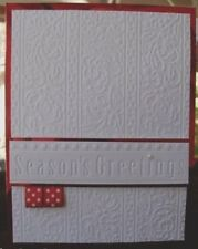 NEW•• CHRISTMAS HOLLY RIBBONS • EMBOSSING FOLDER •WORKS CUTTLEBUG + SIZZIX