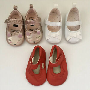 Bundle x 3 CHOOK leather red pink glitter white toddler girls mary jane shoe 2