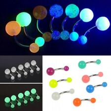7Pcs Fashion Glow In The Dark Belly Button Navel Bar Rings Body Piercing Jewelry