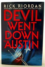 THE DEVIL WENT DOWN TO AUSTIN  Riordan AUTHOR-SIGNED Hardback w/Dust Jacket MINT