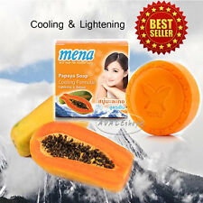 Mena papaya soap cooling formular for face&body aromatic foam  healthy skin 150g