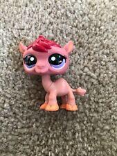 Littlest Pet Shop Authentic # 2117 Pink Burgundy Red Camel Purple Eyes