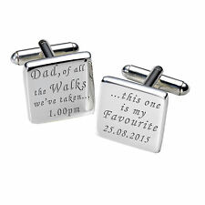 Dad of All the Walks This is my Favourite Time Personalised Date Cufflinks LTT