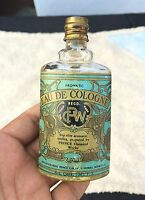 Vintage Eau-De-Cologne Glass Bottle With Perfume Prince Aromatic Collectable