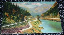 Fraser River Canyon Cariboo Highway C.P.R. and C.N.R.Railway B.C.Postcard Canada