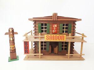 OEHME & Söhne  Saloon + Totem  Westernstadt  Elastolin Timpo DDR