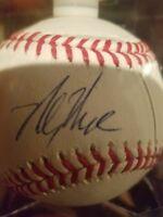 mickey moniak signed baseball autographed ball romlb auto phillies mlb official