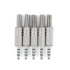 5 Pcs 4 Pole 3.5mm Male Repair Headphone Jack Plug Audio Soldering Adapter