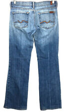 7 For All Mankind Jeans Women's 28 Boot Cut Medium Wash Low Rise Actual 30 x 31