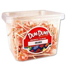 Dum Dum Pops Favorite Orange Flavor TWO Big 1 Lb Tubs! Lollipops Sucker Dum Dums