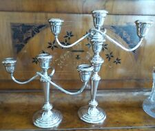 VINTAGE RARE PAIR OF GORHAM SILVER PLATE  CANDELABRAS (TWO SIZES) CENTERPIECE