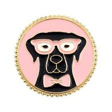 CG4036 Esmalte Pin de Solapa - Labrador Negro con Gafas