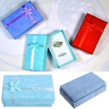 5pcs Paper Cardboard Ring Necklace Earring Jewelry Gift Boxes Display Package FT