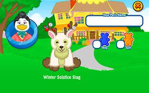 2012 Webkinz WINTER SOLSTICE STAG Virtual Exclusive Online Holiday Pet Code