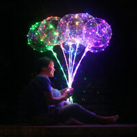 Reusable Luminous Led Balloon Transparent Round Bubble Decoration Party Wedding