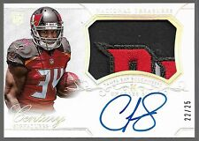 2014 National Treasures Silver Charles Sims Auto GREAT 4 Color LOGO Patch Rc /25