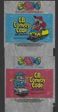 2x 1978 DONRUSS CB CONVOY CODE GUM WRAPPERS(1 Red & 1 Blue)