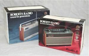 Vintage Empty Boxes Only- Roberts Rambler II & Roberts R727 Radios