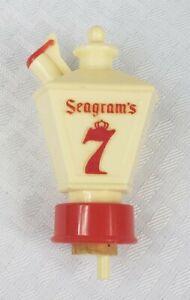 Vintage SEAGRAM'S 7 LAMPLIGHT  Whiskey Bottle Alcohol Pourer Stopper Bar