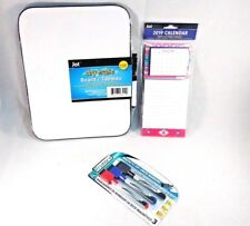 """Jot Magnetic Dry Erase Board 8.5"""" x 11"""" 5 magnetic markers and 2019 calendar"""