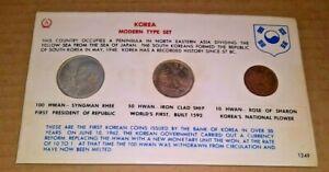 KOREA Modern Coin Type Set 1962-100 Hwan, 50 Hwan, 10 Hwan
