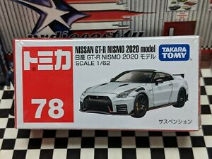 TOMICA #78 NISSAN GT-R NISMO 2020 MODEL 1/62 SCALE NEW IN BOX