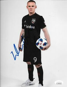 Wayne Rooney Manchester United signed DC D.C. United 8x10 photo England JSA