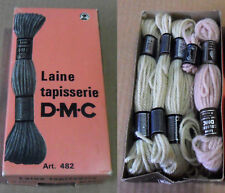 Lot of 6 New + 2 Used DMC 8.7 Yards Wool SKEINS Embroidery Needlepoint Tapestry