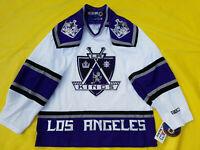 NEW with Tags Los Angeles Kings Jersey LA Kings Mens M medium CCM Mic white NWT