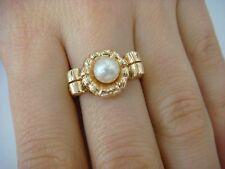 !NICE 14K YELLOW GOLD VINTAGE PEARL LADIES RING 5 GRAMS, SIZE 8.25
