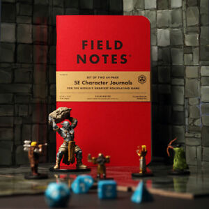 Field Notes 5E Character Journal for Dungeons and Dragons - 2 Pack