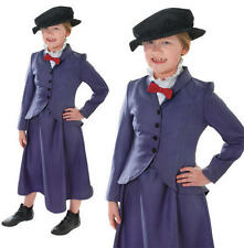 Para Niños Niños niñera Fancy Dress Costume Mary Poppins McPhee CHILDS TRAJE L