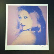 """Andy Warhol, """"Baroness de Walden"""", Special Print from VIP Book.  Signed w/ COA."""