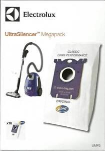16 x GENUINE ELECTROLUX ULTRASILENCER S BAG VACUUM CLEANER MEGA PACK UMP3S