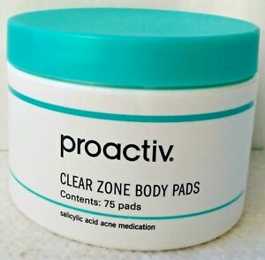 Proactiv Clear Zone Body Pads 75 Count Acne Management Removes Dirt 06/22 Sealed