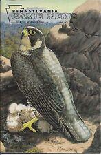 Pennsylvania Game News Novembe 1995 cover by Stephen Leed peregrine falcon