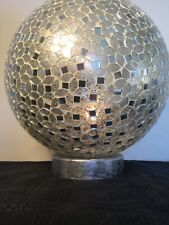 Table Lamp Stunning Silver Etched Globe