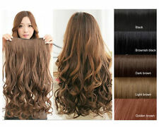 5 Clips Clip-on Synthetic Hair Extensions Long Curvy Wavy Clip Pony Tail 3 Color