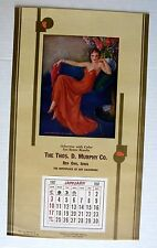 1937 Pin Up Girl Picture Calendar by Erbit When Flowers Bring Loves Message