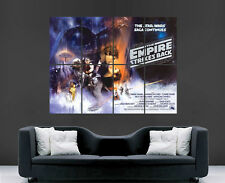 Star wars movie poster empire strikes back giant art print photo grand