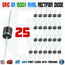 25PCS 6A10 1000V 6A 1KV Axial Rectifier Diode 6 AMP solar panel USA